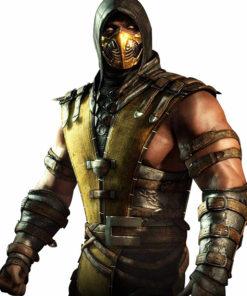 Scorpion Mortal Kombat Hooded Leather Jacket