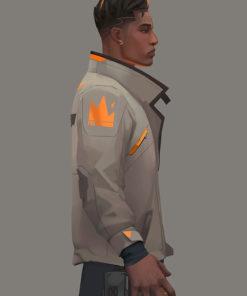 Phoenix Fiery Valorant Leather Jacket