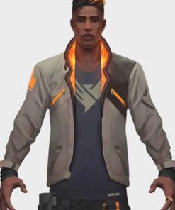 Valorant Phoenix Fiery White Leather Jacket