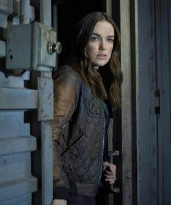 Elizabeth Henstridge Agents Of Shield Quilted Jacket