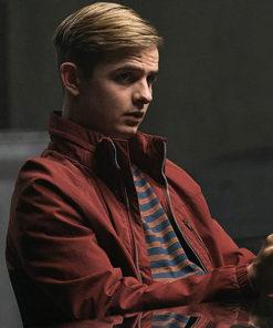 Alex Rider Otto Farrant Red Cotton Jacket