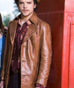 Hatter Alice Andrew Lee Potts Brown Leather Jacket