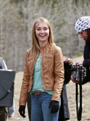 Amber Marshall Heartland Brown Leather Jacket