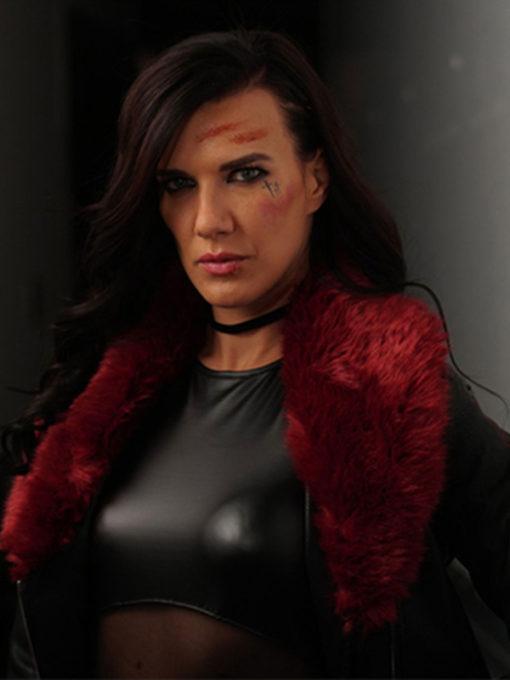 Rhona Acceleration Black Leather Jacket