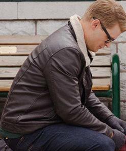 Dashing Home for Christmas Simon Black Leather Jacket