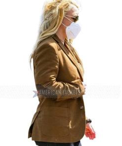 Malibu Britney Spears Brown Wool Coat