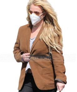 Malibu Trip Britney Spears Brown Blazer