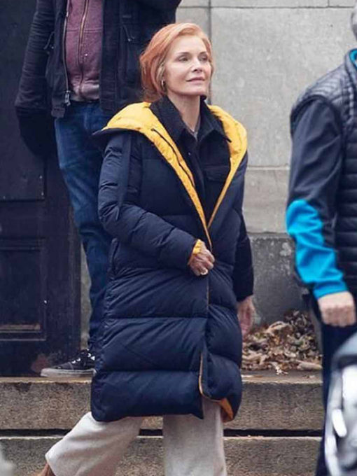 French Exit Michelle Pfeiffer Puffer Coat