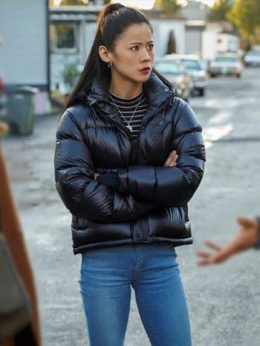 Nancy Drew Leah Lewis Black Puffer Jacket