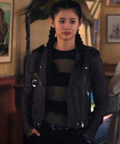 George Fan Nancy Drew Biker Leather Jacket