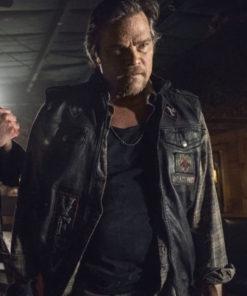 Rodney Rowland The Walking Dead Season 10 Baxter Leather Vest