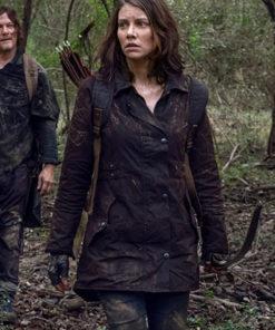 The Walking Dead Lauren Cohan Brown Jacket
