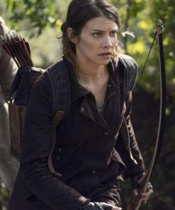 The Walking Dead Maggie Rhee Brown Jacket