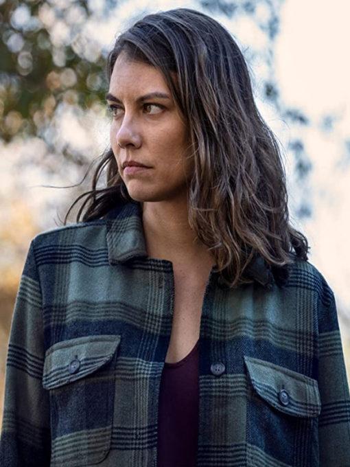 The Walking Dead Season 10 Maggie Rhee Plaid Jacket