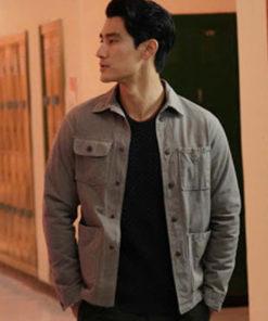 Walker Bret Cotton Gray Jacket