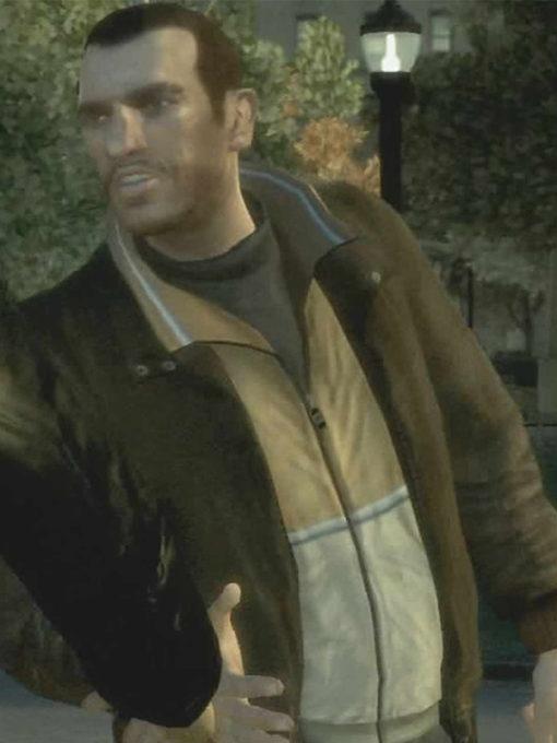 Grand Theft Auto IV Niko Bellic Brown Leather Jacket