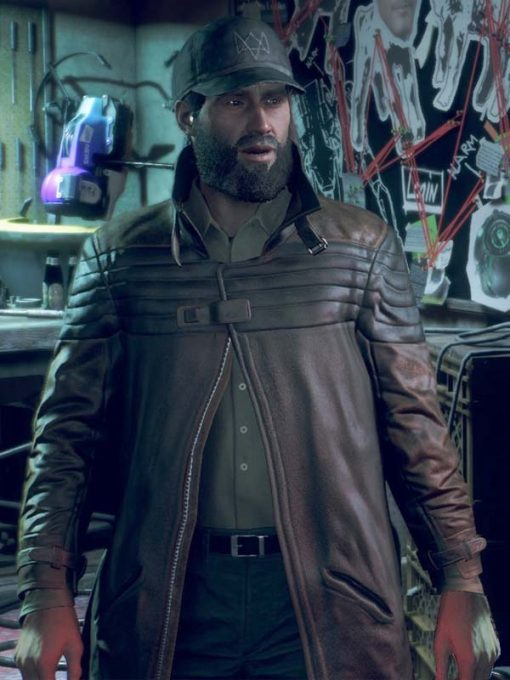 Game Watch Dogs Legion Bloodline Aiden Pearce Trench Coat