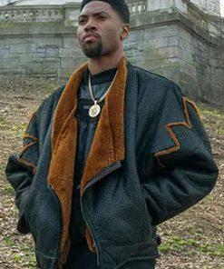 Power Book III London Brown Leather Jacket