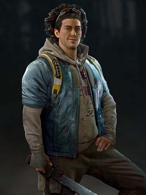 Back 4 Blood Evangelo Blue Leather Jacket