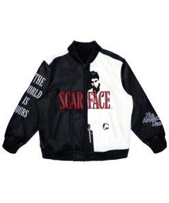 Scarface Tony Montana Leather Bomber Jacket